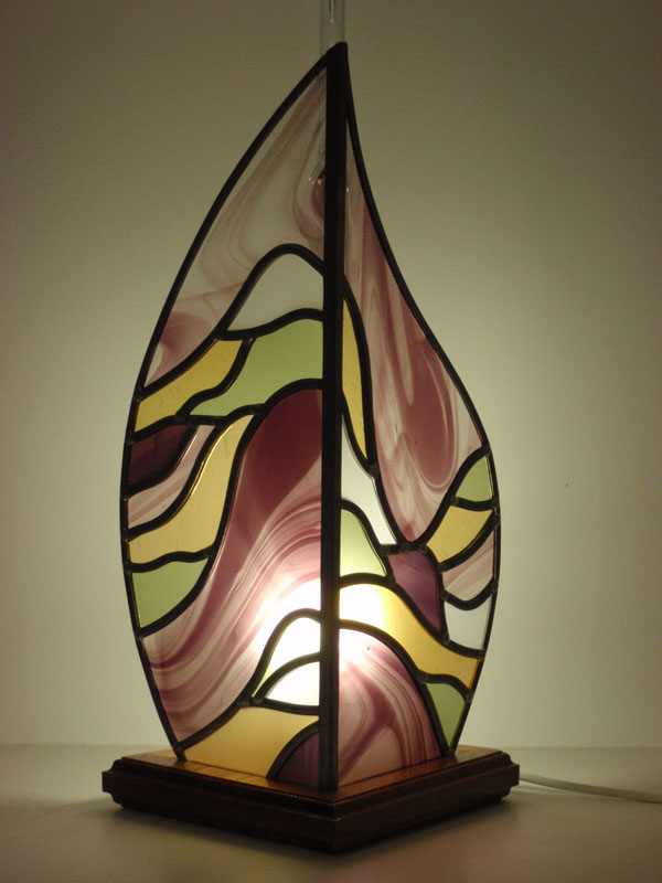 lampe en vitrail avec couleurs personnalisées