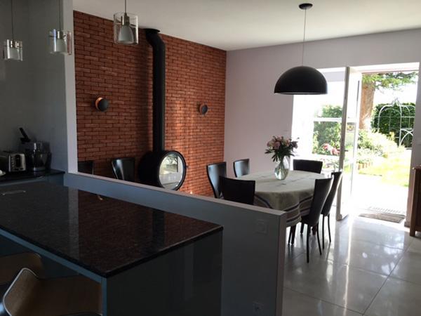 projet de la verrière en vitraux entre la cuisine et la salle à manger