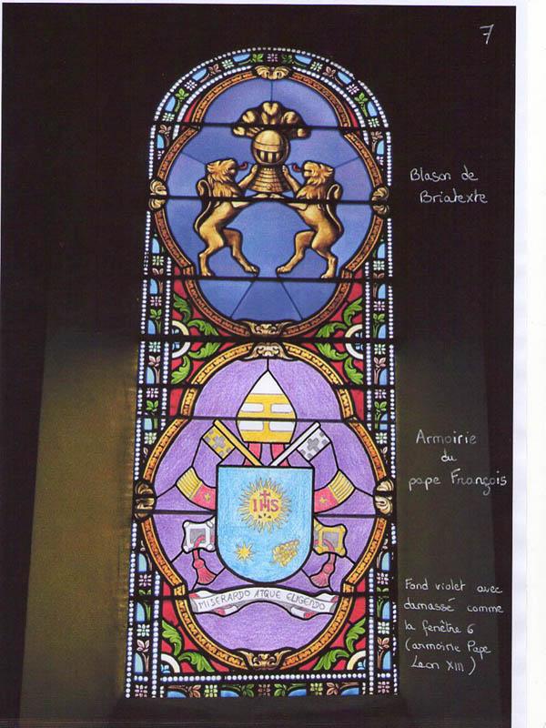 projet proposant la création en vitrail des armoiries du pape François 1er