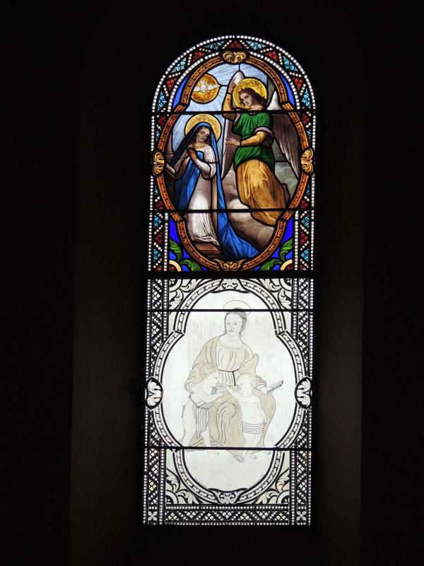 projet graphique d'une scène biblique en vitrail