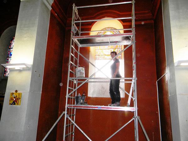 restauration de patrimoine des vitraux de l'église de Graulhet