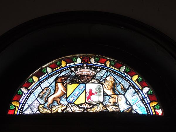 vitrail avant restauration de la chapelle du château Lavalade