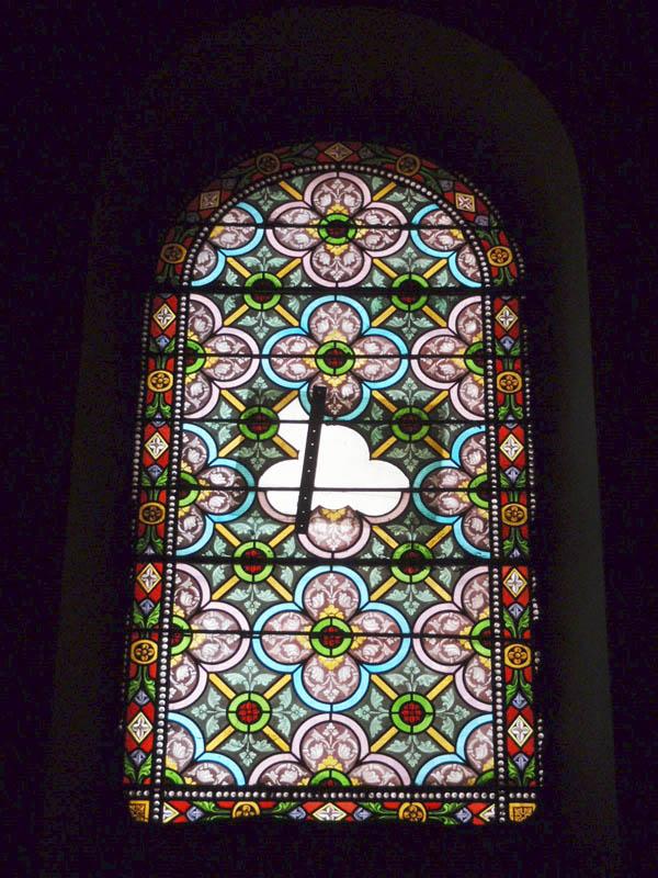 vitraux avant rénovation, église de Graulhet