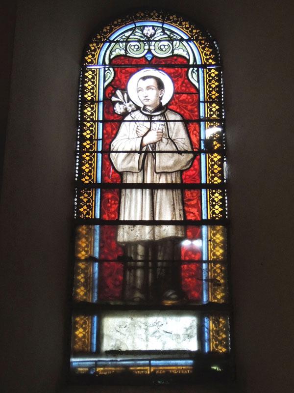 vitraux avant travaux, église de Paulinet