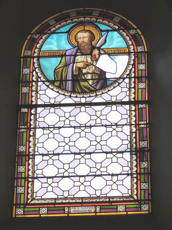 vitrail avant rénovation à l'église St Jean de Jeanne, Paulinet