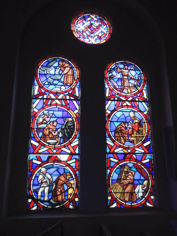 ensemble de vitraux avant restauration, église de Roquecourbe